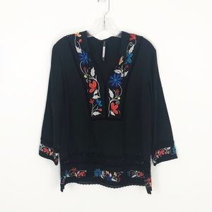 Plenty By Tracy Reese Embroidered Kurta Top S